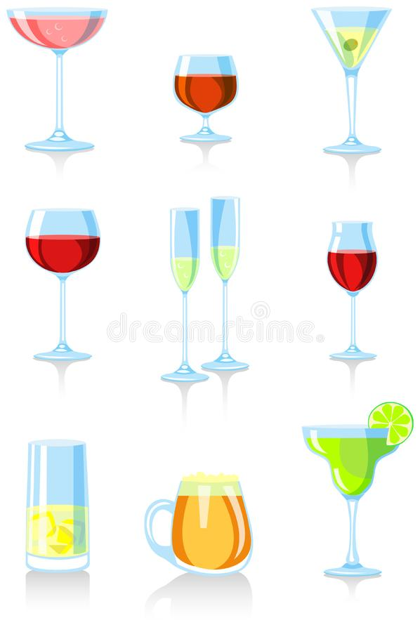 Download Glasses stock vector. Image of lime, celebrate, burgundy - 4048867