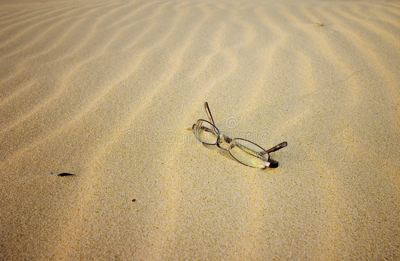 Glasses on the Beach stock photography