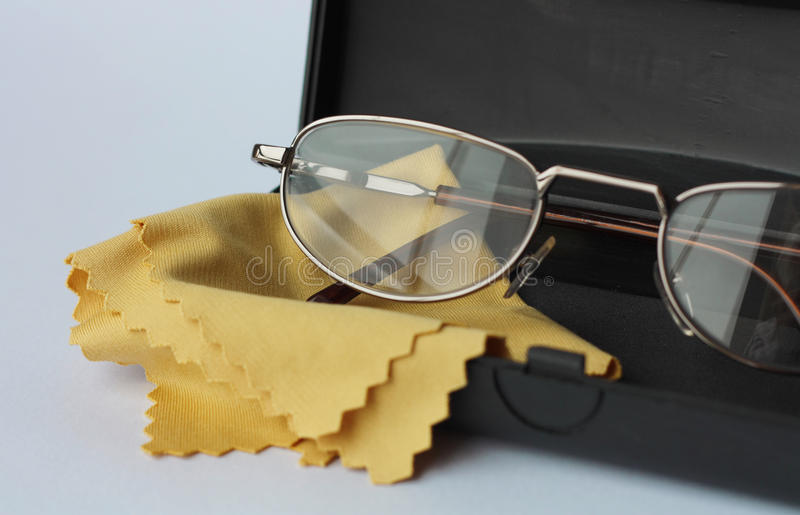 Download Glasses in black case stock photo. Image of focus, close - 16542448