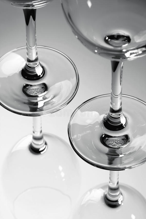 Glasses of Black and White stock photos