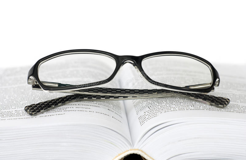 Download Glasses and book stock image. Image of pages, treatment - 21639975