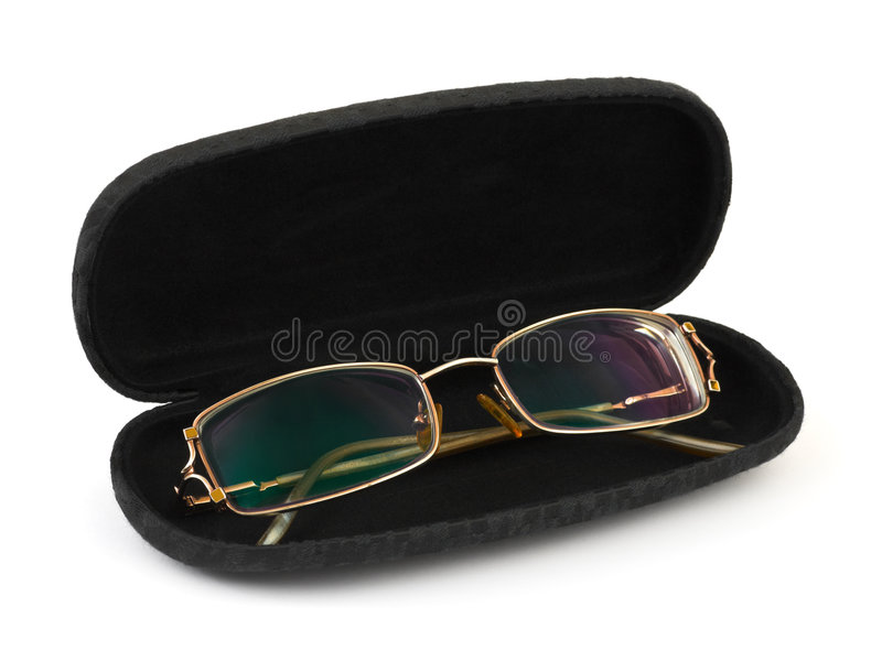 Glasses in case stock image