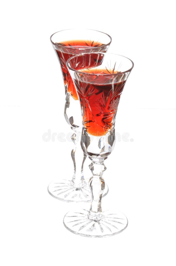 Download Glasses with cherry stock photo. Image of bartender, liqueur - 21167298