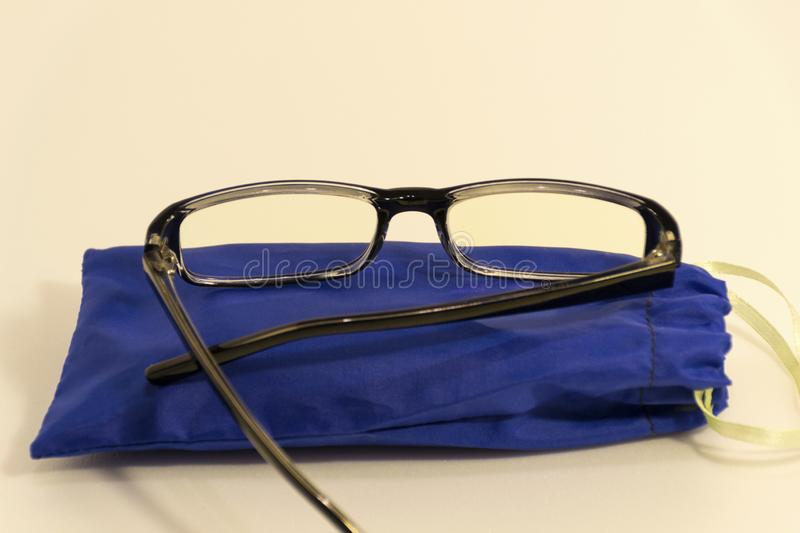 Glasses for computer monitor. stock photo
