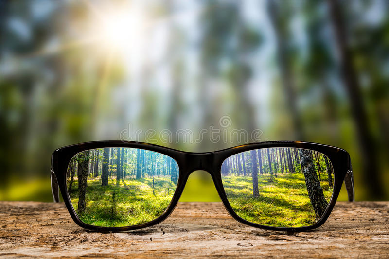 Glasses concepts. royalty free stock photo