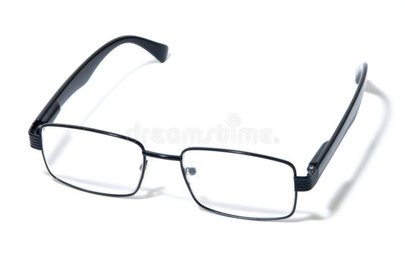 Glasses, eyeglasses, spectacles, modern pair of glasses, black rim stock photo
