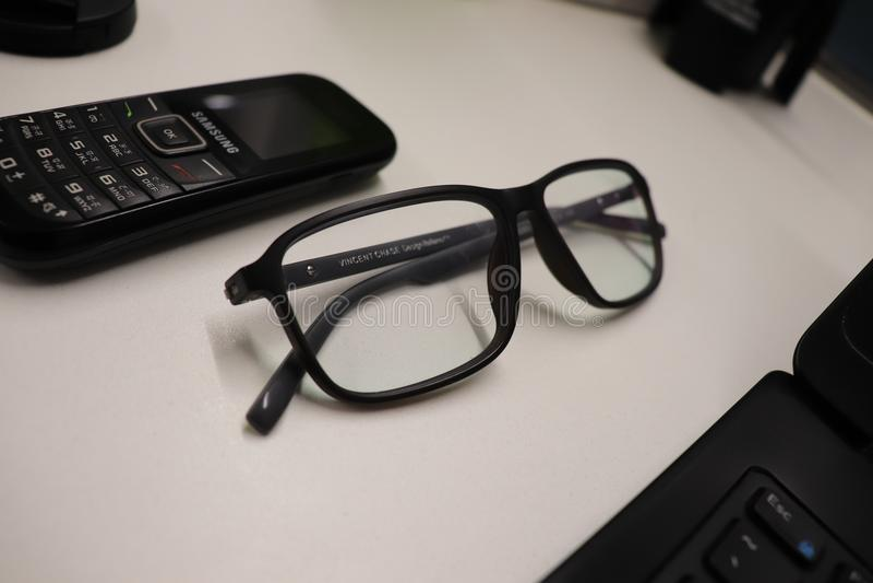 Glasses, Eyewear, Vision Care, Electronic Device stock photography