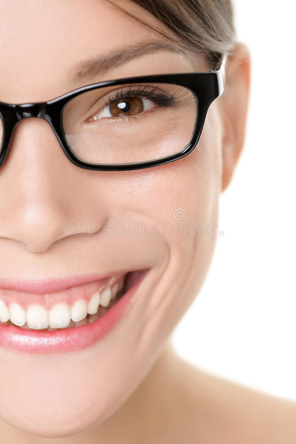 Free Glasses Eyewear Woman Portrait Close Up Royalty Free Stock Photo - 32803175