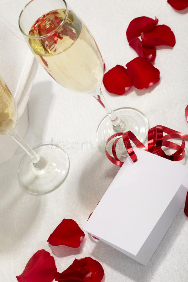 Download Glasses of fizz and rose stock image. Image of date, celebrate - 13203681