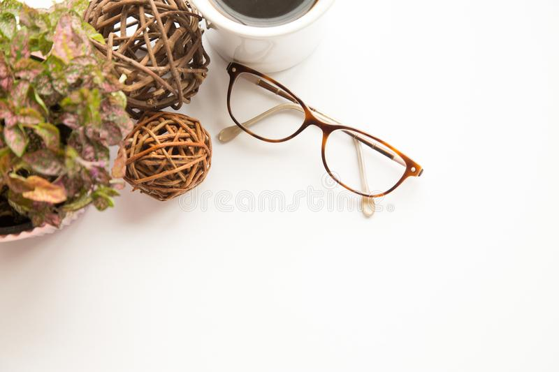 Glasses and floral royalty free stock photos
