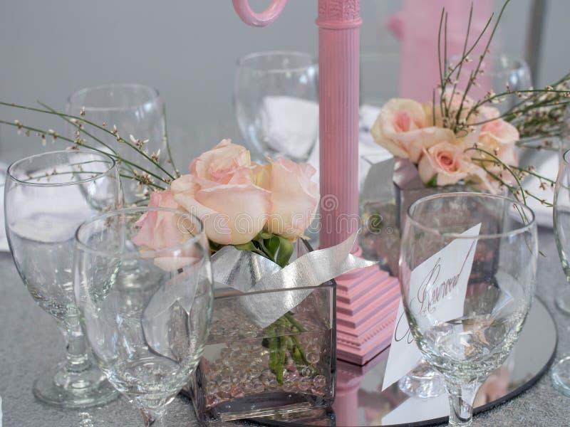 Glasses & Flowers stock image