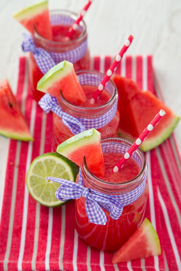 Glasses of fresh,home-made fresh juice stock photography