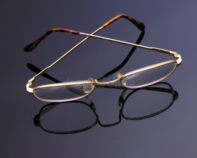 Glasses On Glass Stock Images