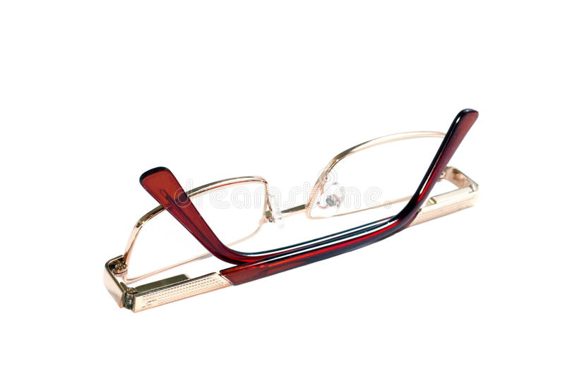 Download Glasses Of Gold Color For Dull Sight Stock Photo - Image: 24256020