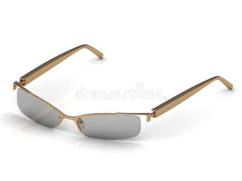 Download Glasses on gold rimmed stock illustration. Image of geek - 30858973