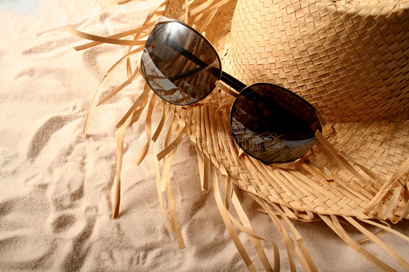 Download Glasses and Hat stock image. Image of shore, travel, beach - 516287