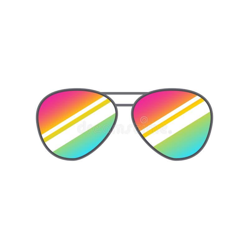 Glasses heart shape for photobooth, photo props design. Cartoon glasses for selfie apps. Vector isolated white royalty free illustration