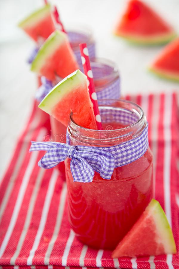 Glasses of fresh,home-made juice stock photos