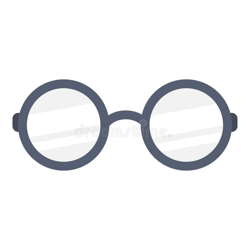 Glasses icon, flat style royalty free illustration