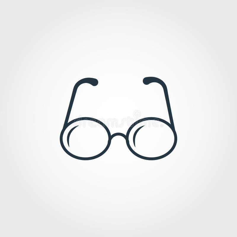 Glasses icon. Premium monochrome design from education icon collection. Creative glasses icon for web design and printing usage. Glasses icon. Premium royalty free illustration