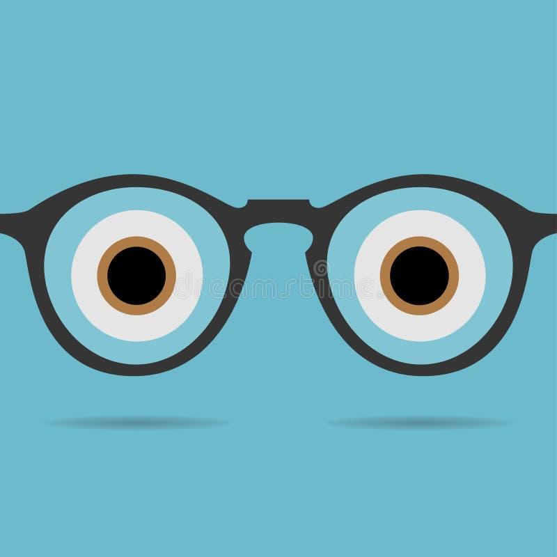 Glasses icon vector stock illustration