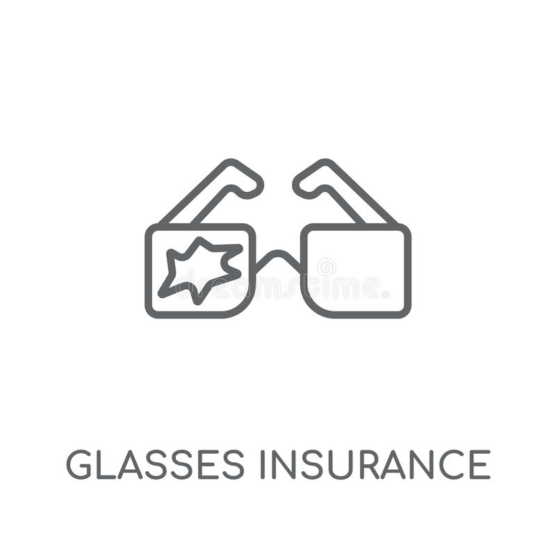 Glasses insurance linear icon. Modern outline Glasses insurance vector illustration
