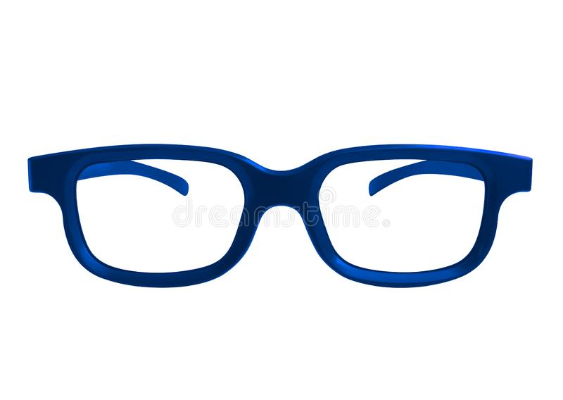 Glasses isolated - blue stock images