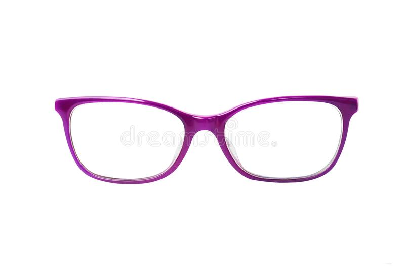 Glasses isolated on white background for applying. photo. object.  royalty free illustration