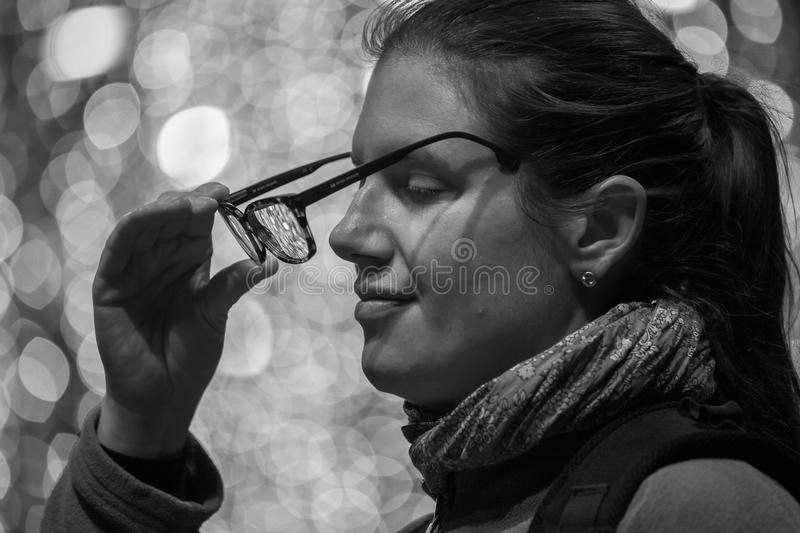 Download Eye Glasses stock image. Image of monochrome, blurs, expression - 36627671