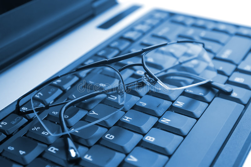 Download Glasses on laptop stock photo. Image of personal, concept - 4493444
