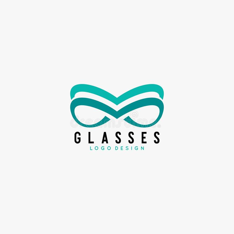 Glasses logo design vector royalty free stock image