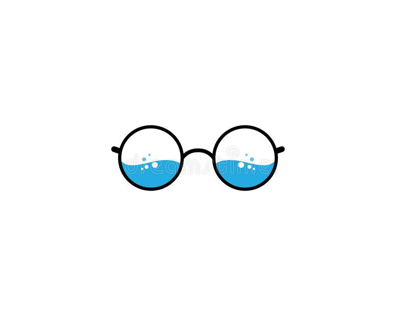 Glasses logo icon. Illustration, vector, sunglasses, background, isolated, design, black, modern, white, style, fashion, eyeglasses, frame, elegance, view stock illustration