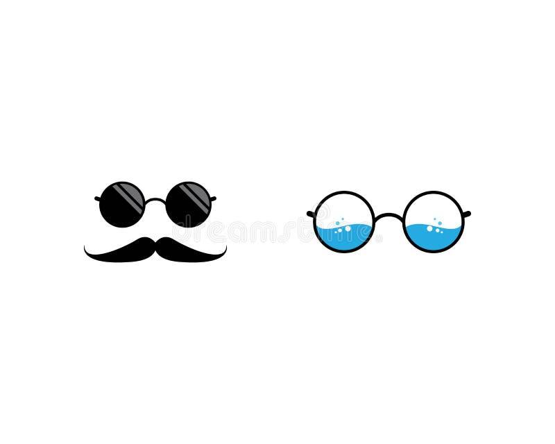 Glasses logo icon. Illustration, vector, sunglasses, background, isolated, design, black, modern, white, style, fashion, eyeglasses, frame, elegance, view royalty free illustration