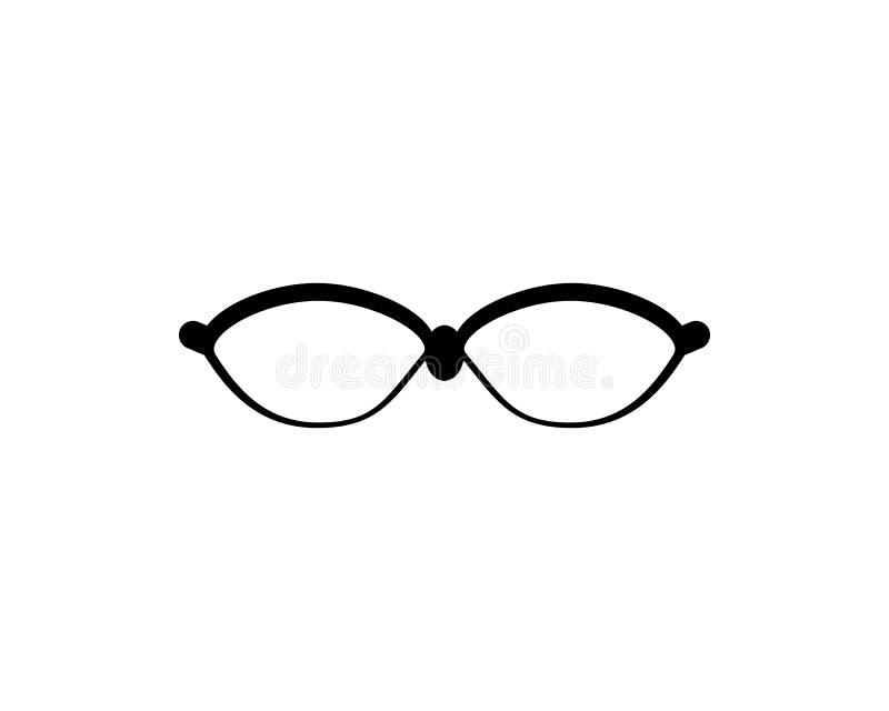 Glasses logo vector icon illustration. Design, sunglasses, background, isolated, black, modern, white, style, fashion, eyeglasses, frame, elegance, view, symbol stock illustration