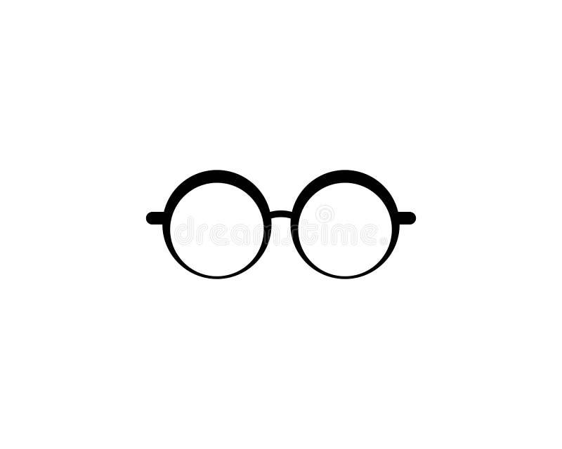 Glasses logo vector icon illustration. Design, sunglasses, background, isolated, black, modern, white, style, fashion, eyeglasses, frame, elegance, view, symbol vector illustration