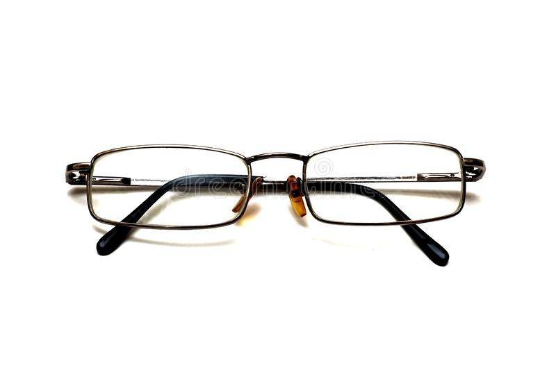 Glasses with metal frame, isolate on white background royalty free stock images