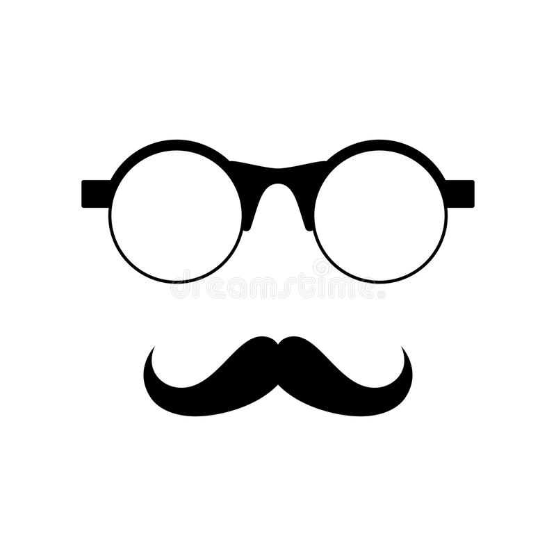 Glasses with mustache. Vector illustration vector illustration