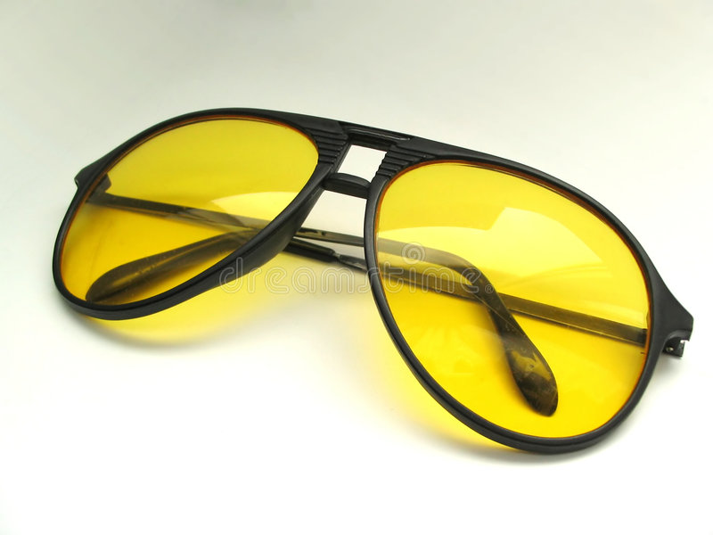 Glasses for night driving stock photo