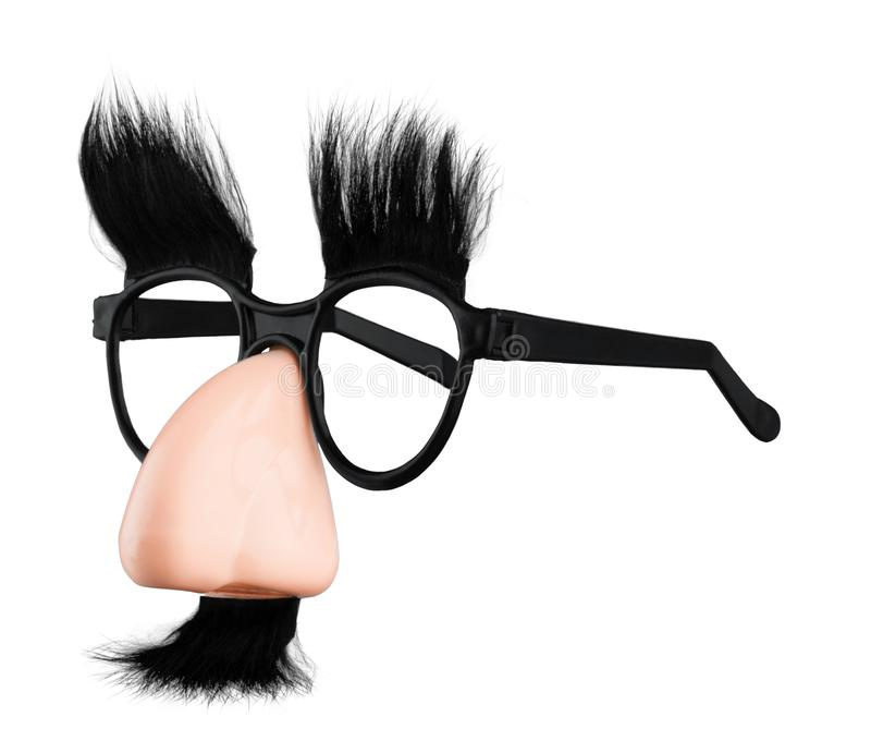 Glasses and Nose with Mustache mask Isolated on royalty free stock photos