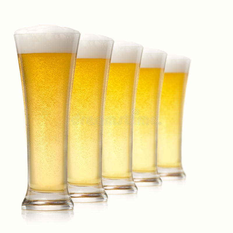 Free Glasses Of Beer Royalty Free Stock Photography - 18714897