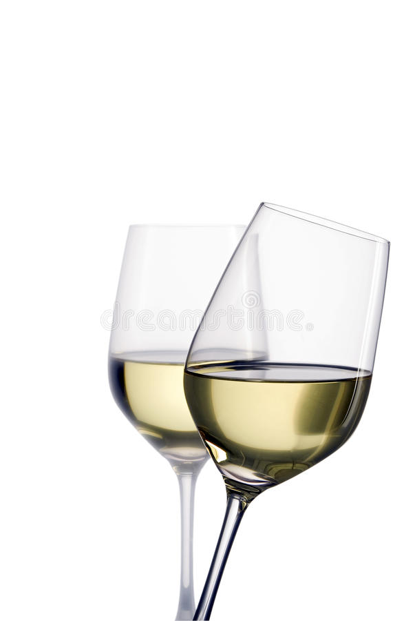 Free Glasses Of White Wine Royalty Free Stock Photos - 16768088