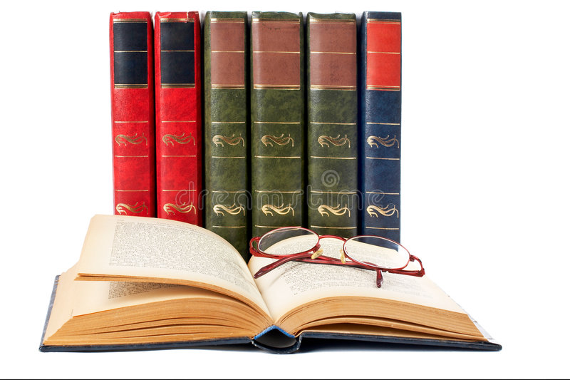 Glasses And Open Book Royalty Free Stock Image