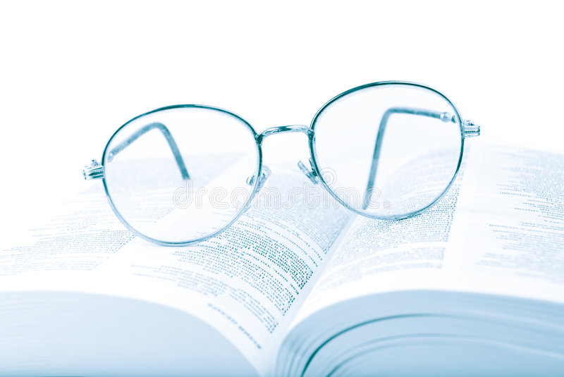 Download Glasses on the open book stock image. Image of business - 8042145