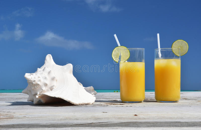 Glasses of orange juice royalty free stock images