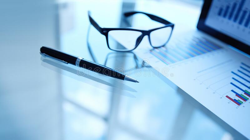 Glasses And Pen Next To Business Data Free Public Domain Cc0 Image