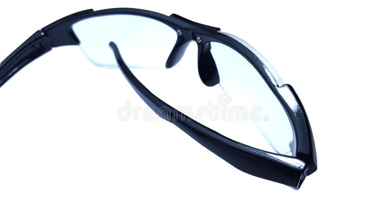 Glasses, pictures taken in isolated mode. With a clean white background, suitable for use as articles or advertisements stock image