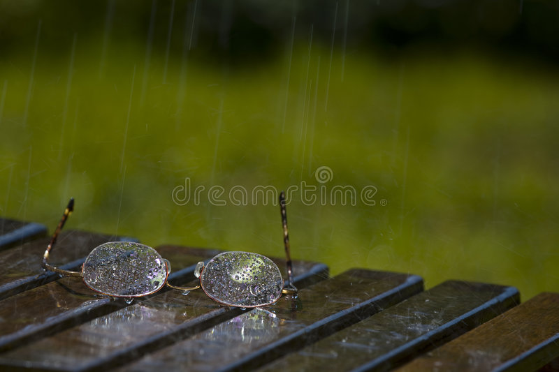 Glasses in the Rain. Pair of Glasses Sitting in the Rain (2729 stock photos