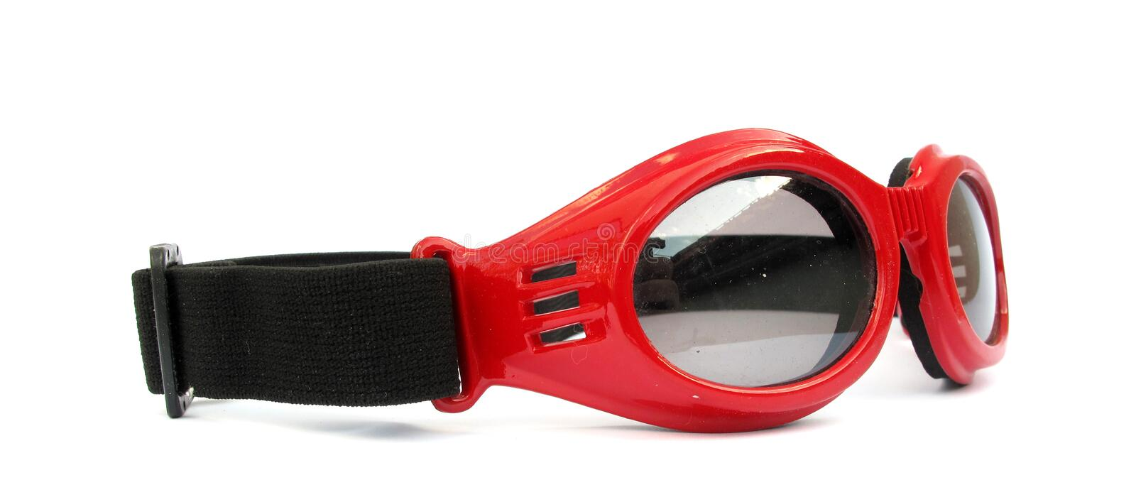 Glasses red protective. Here are red protective glasses, working equipment stock photos