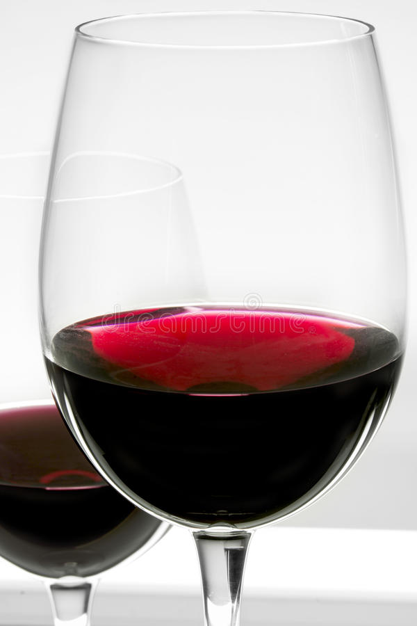 Download Glasses of red wine stock image. Image of expensive, simple - 39603273