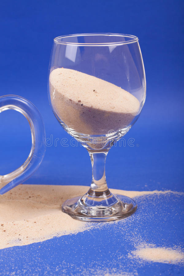 Download Glasses with sand stock photo. Image of beverages, retro - 83711268